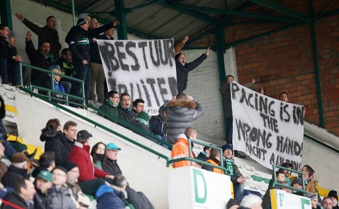 racing mechelen, protest supporters tegen het bestuur