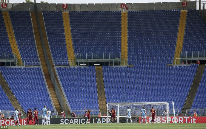 Derby van Rome: Lege tribunes
