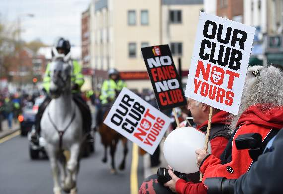 Charlton Athletic protest