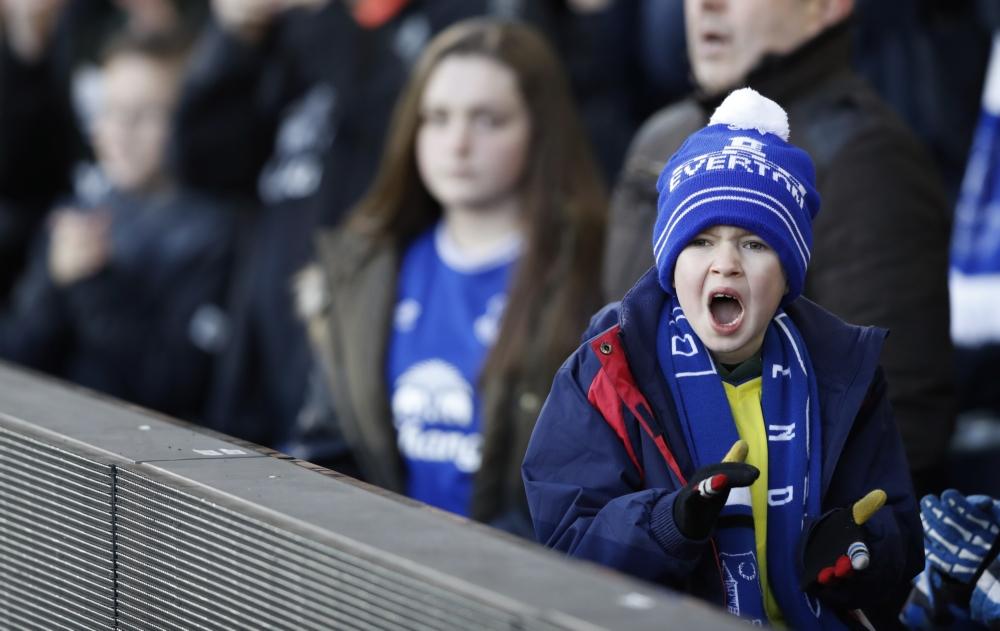 Een jonge fanatieke Everton fan. Foto: Pro Shots / Action Images