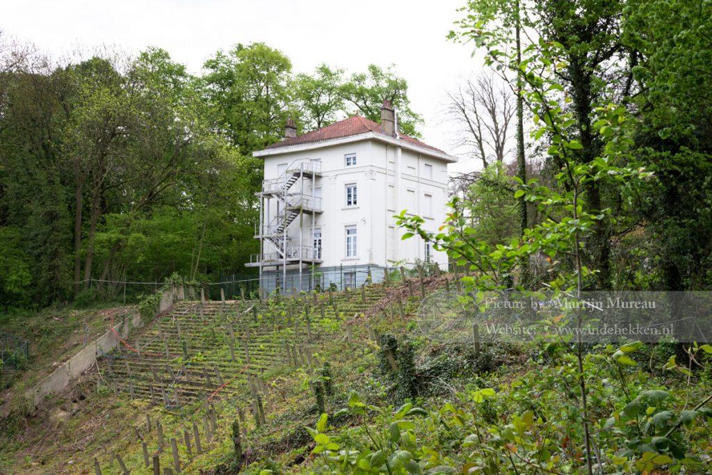 Het huis waarin de oude kleedkamers van RUSG zich bevonden