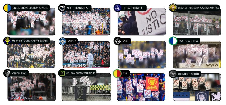 Supporters verenigd tegen de voetbalbond en politie