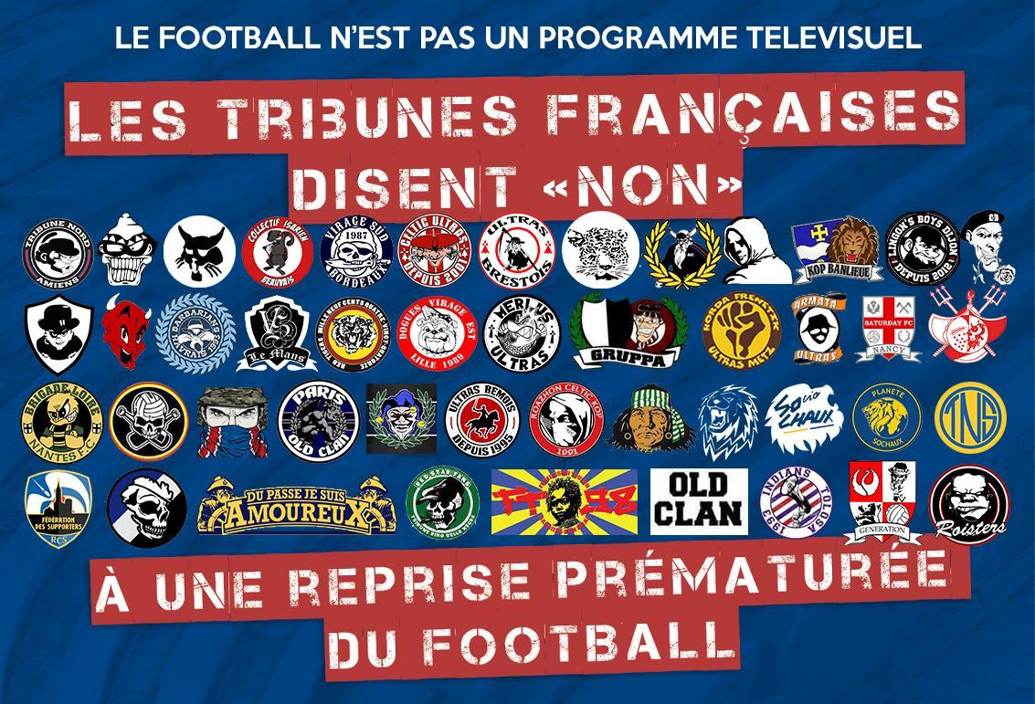 Franse supporters zeggen nee tegen snelle hervatting competitie