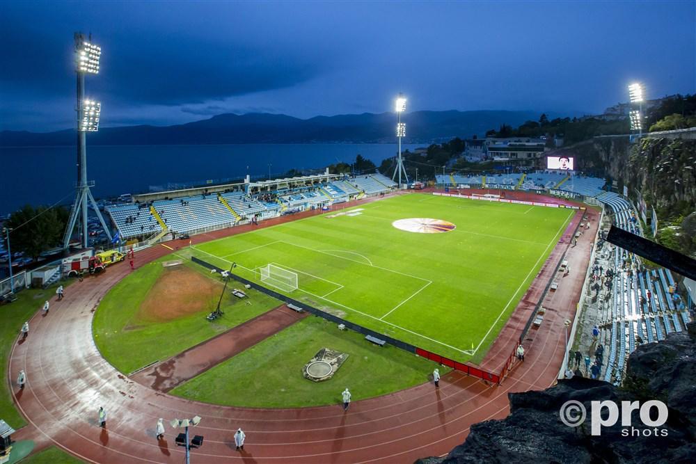 Stadion Kantrida voor de wedstrijd Rijeka - Feyenoord