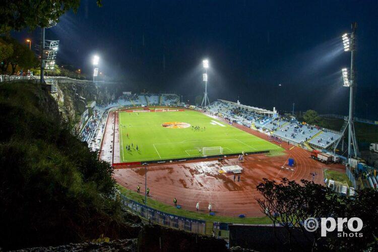 Stadion Kantrida voor de wedstrijd tegen Feyenoord