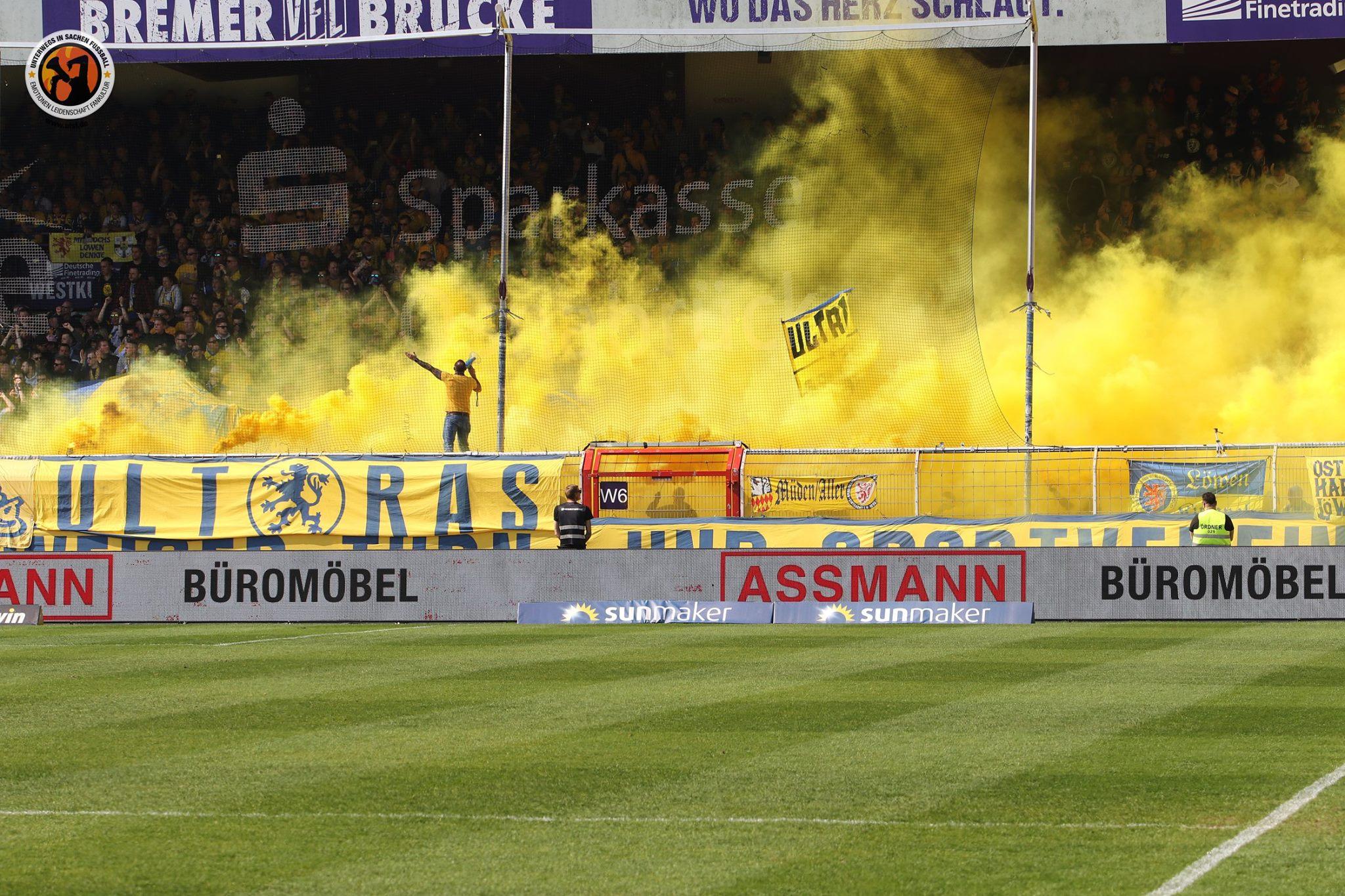 Supporters van Eintracht Braunschweig