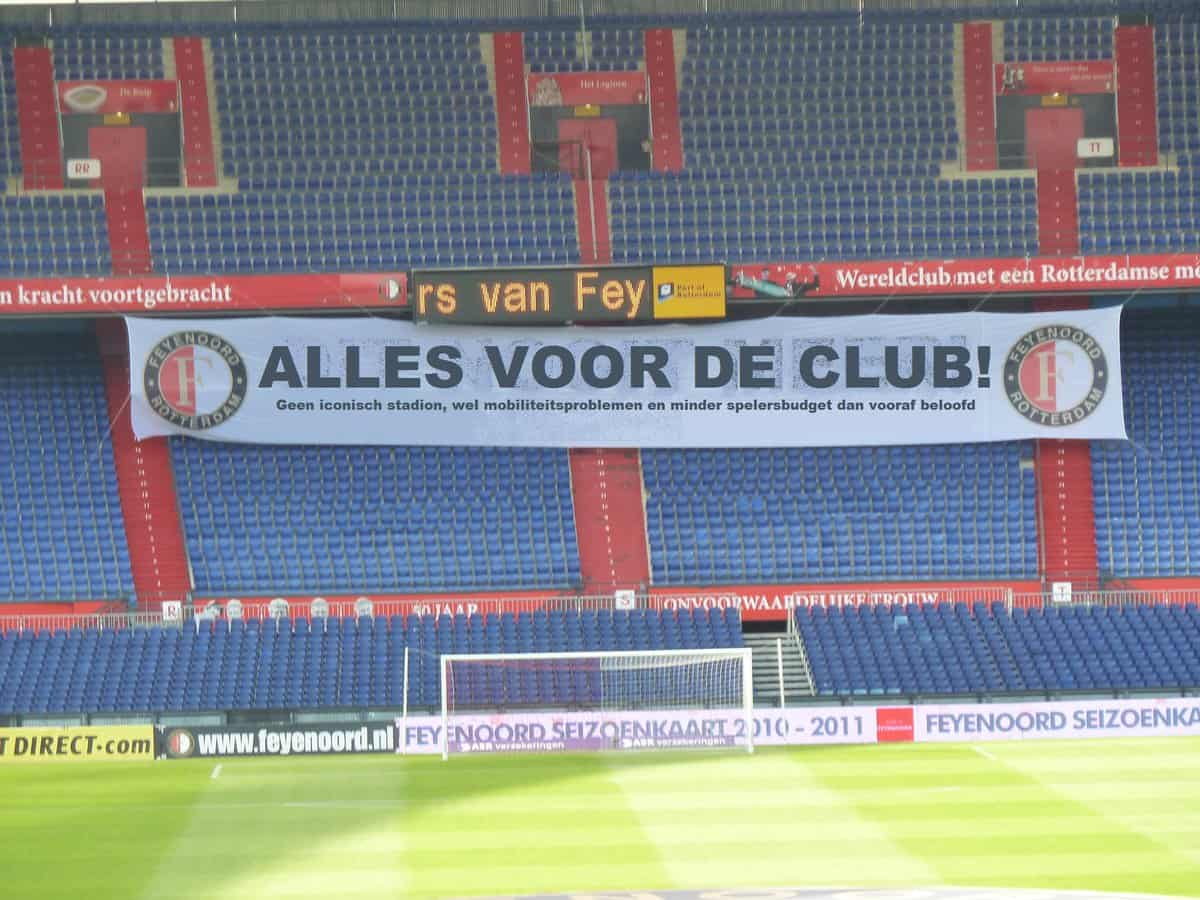 In de Hekken - Feyenoord - statement - spandoek